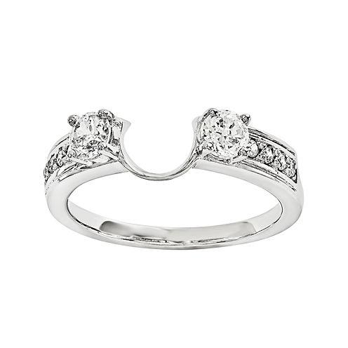 5/8 CT. T.W. Diamond 14K White Gold Ring Enhancer
