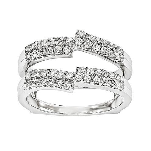 5/8 CT. T.W.  Round Diamond 14K White Gold Ring Guard