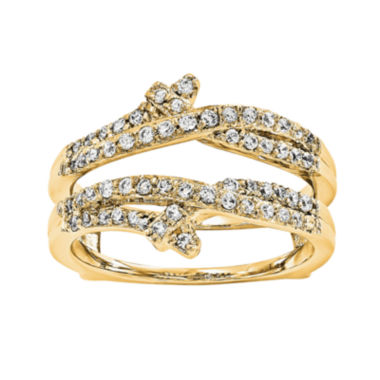 jcpenney.com | 1/2 CT. T.W.  Round Diamond 14K Yellow Gold Ring Guard