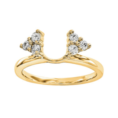 jcpenney.com | 1/4 CT. T.W. Diamond 14K Yellow Gold Ring Wrap