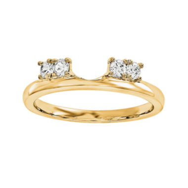 jcpenney.com | 1/6 CT. T.W. Diamond 14K Yellow Gold Ring Enhancer