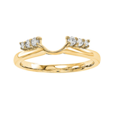 jcpenney.com | 1/7 CT. T.W. Diamond 14K Yellow Gold Ring Enhancer