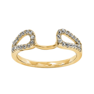 jcpenney.com | 14K Yellow Gold 1/7 CT. T.W. Diamond Ring Enhancer