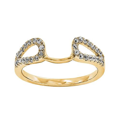 14K Yellow Gold 1/7 CT. T.W. Diamond Ring Enhancer