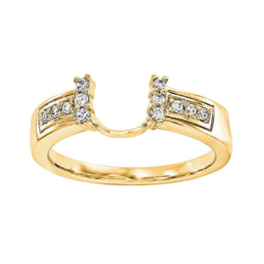 jcpenney.com | 1/8 CT. T.W. Diamond 14K Yellow Gold Ring Enhancer