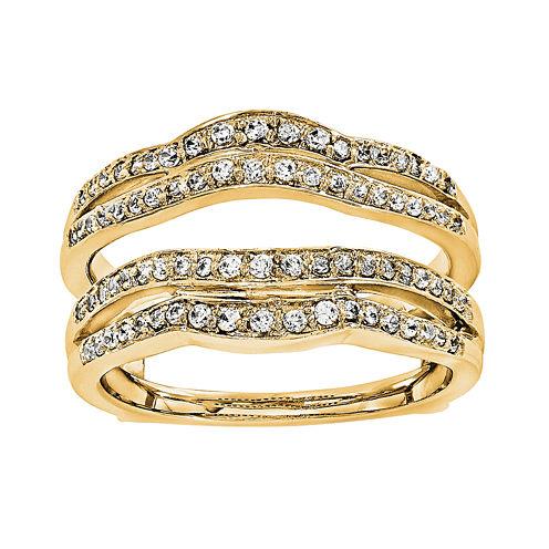 3/8 CT. T.W. Diamond 14K Yellow Gold Ring Guard