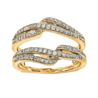 jcpenney.com | 3/8 CT. T.W.  Diamond 14K Yellow Gold Ring Guard