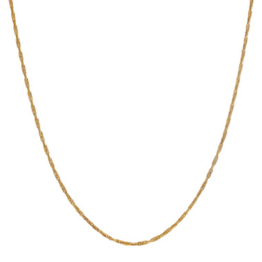"jcpenney.com |  14K Yellow Gold  18"" Solid Forzantina Chain Necklace"