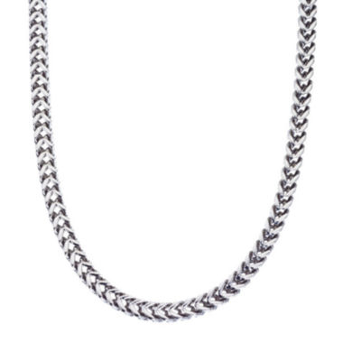 "jcpenney.com | Mens Stainless Steel 24"" Wheat Chain Necklace"