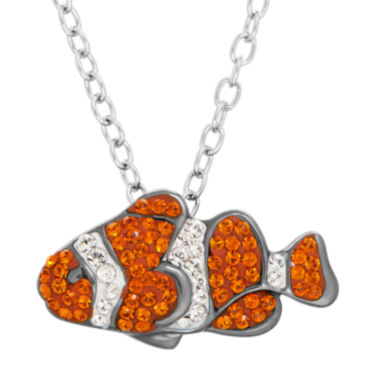 jcpenney.com | Animal Planet™ Australia Clownfish Crystal Sterling Silver  Pendant Necklace
