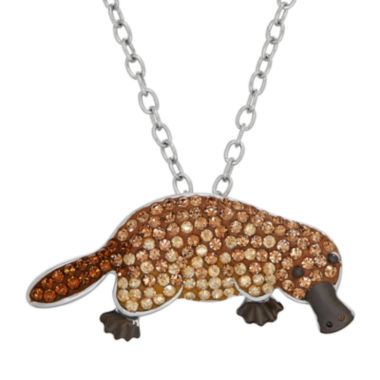 jcpenney.com | Animal Planet™ Australia Platypus Crystal Sterling Silver Pendant Necklace