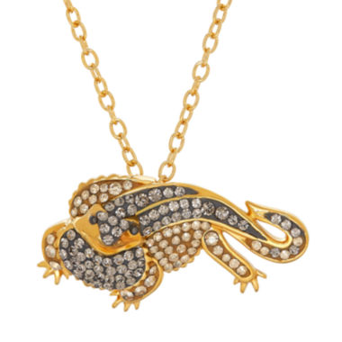 jcpenney.com | Animal Planet™ Australia Crystal Dragon 14K Yellow Gold Over Sterling Silver Pendant Necklace