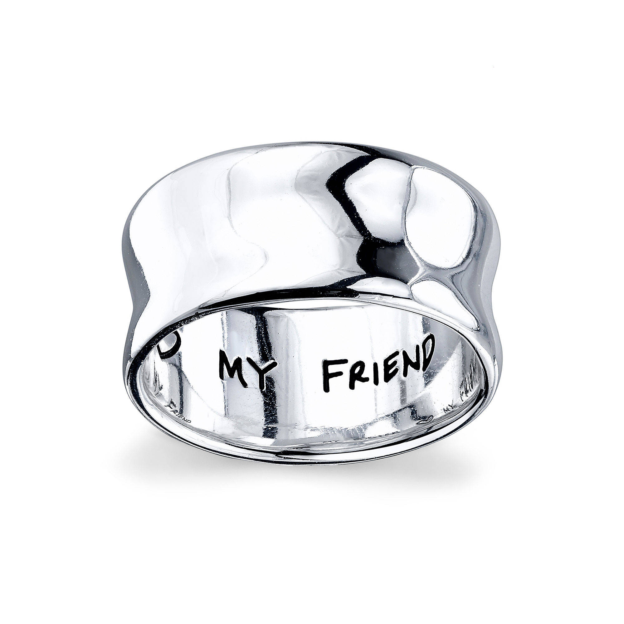 "Inspired Moments™ Sterling Silver ""My Sister, My Friend"" Ring"