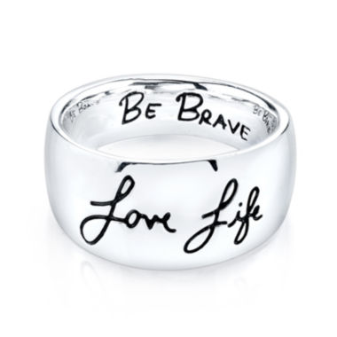 "jcpenney.com | Inspired Moments™ Sterling Silver ""Love Life, Be Brave"" Ring"