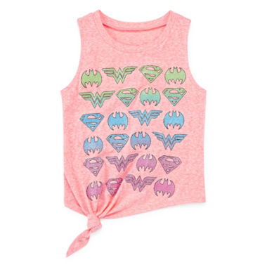 jcpenney.com | DC Comics® Shields In A Row Tank Top - Girls 7-16