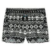 Arizona Printed Soft Shorty Shorts - Girls 7-16