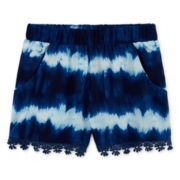 Arizona Tie-Dyed Soft Shorty Shorts - Girls 7-16