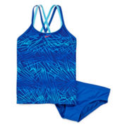 Nike® Cross-Back 2-pc. Tankini Swimsuit - Girls 7-14