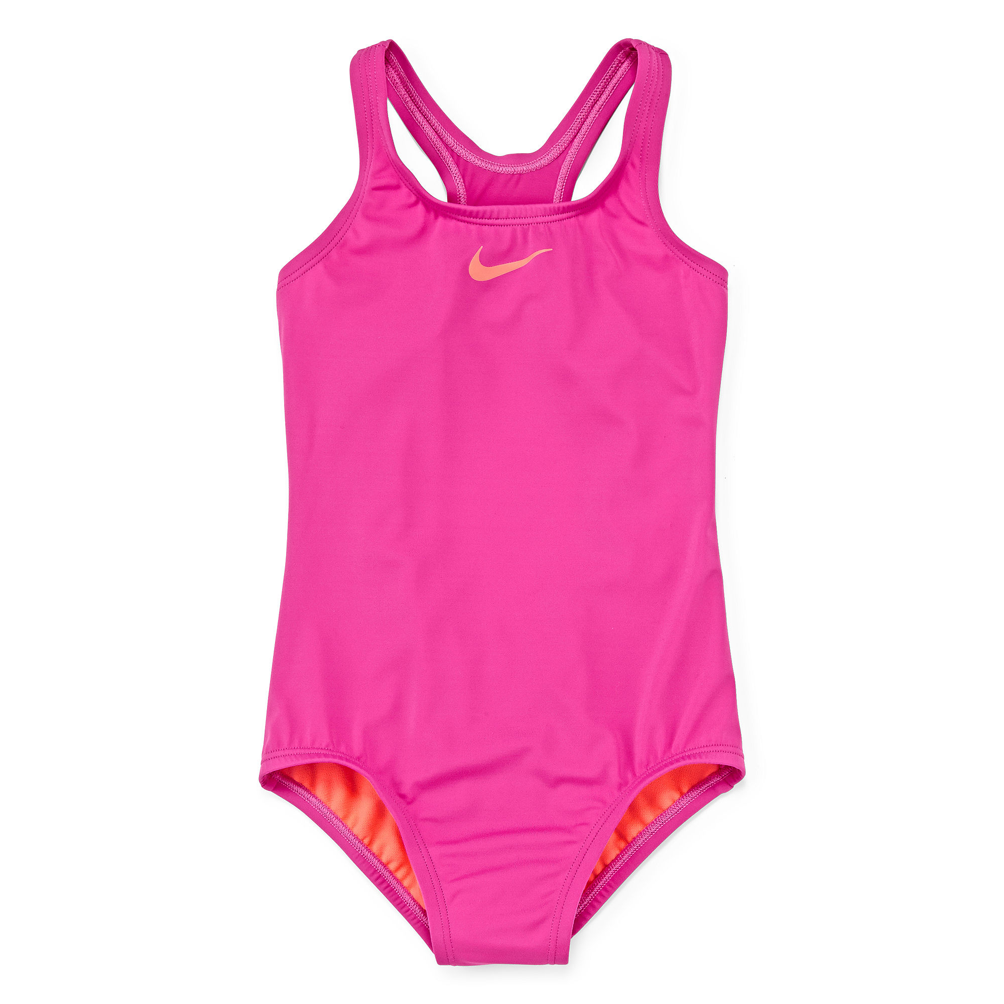 87b23803e6 ... UPC 053474733998 product image for Nike Solid Racerback One-Piece  Swimsuit - Girls 7- ...