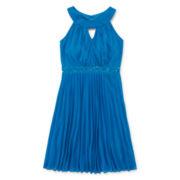 Emerald Sundae Sleeveless Pleated-Skirt Dress - Girls 7-16