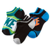 Nike® 3-pk. Graphic No-Show Crew Socks - Boys 7-11