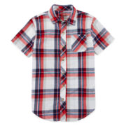 Arizona Short-Sleeve Woven Shirt - Boys 8-20 and Husky