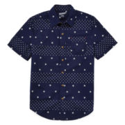 Arizona Short-Sleeve Printed Woven Button-Front Shirt - Boys 8-20