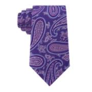 Stafford® Tray Paisley Silk Tie - Extra Long