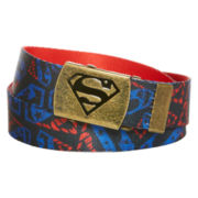 Superman Reversible Metal Buckle Belt
