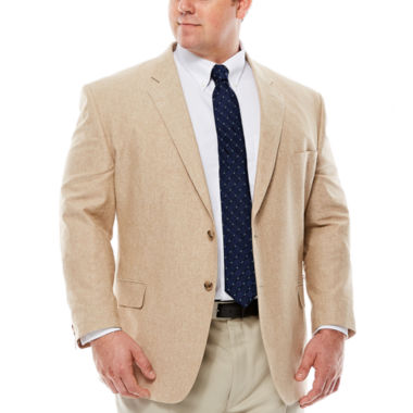 jcpenney.com | Stafford® Linen Cotton Jacket - Big & Tall