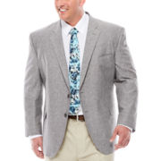 Stafford® Linen-Cotton Sport Coat - Portly