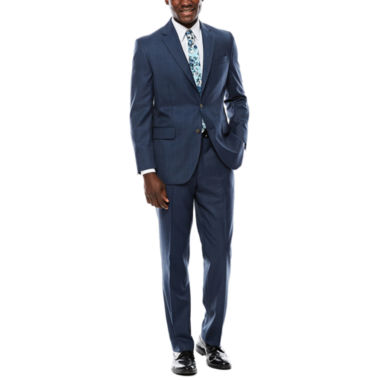 jcpenney.com | Stafford® Travel Windowpane Suit Separates - Classic Fit