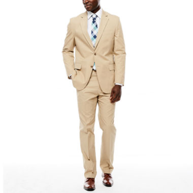 jcpenney.com | Stafford® Khaki Cotton Suit Separates - Classic Fit