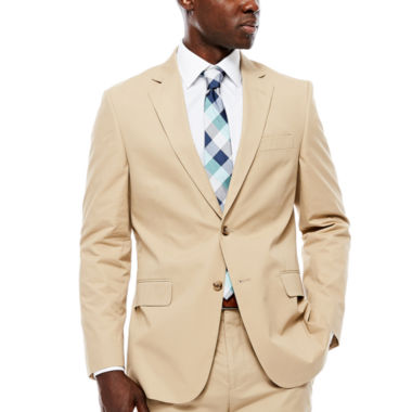 jcpenney.com | Stafford® Khaki Cotton Suit Jacket - Classic Fit