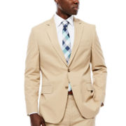Stafford® Khaki Cotton Suit Jacket - Classic Fit