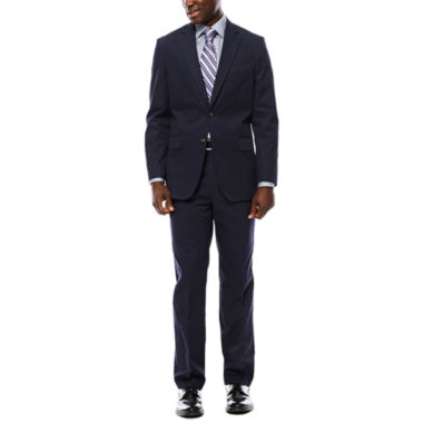 jcpenney.com | Stafford® Navy Cotton Suit Separates - Classic Fit
