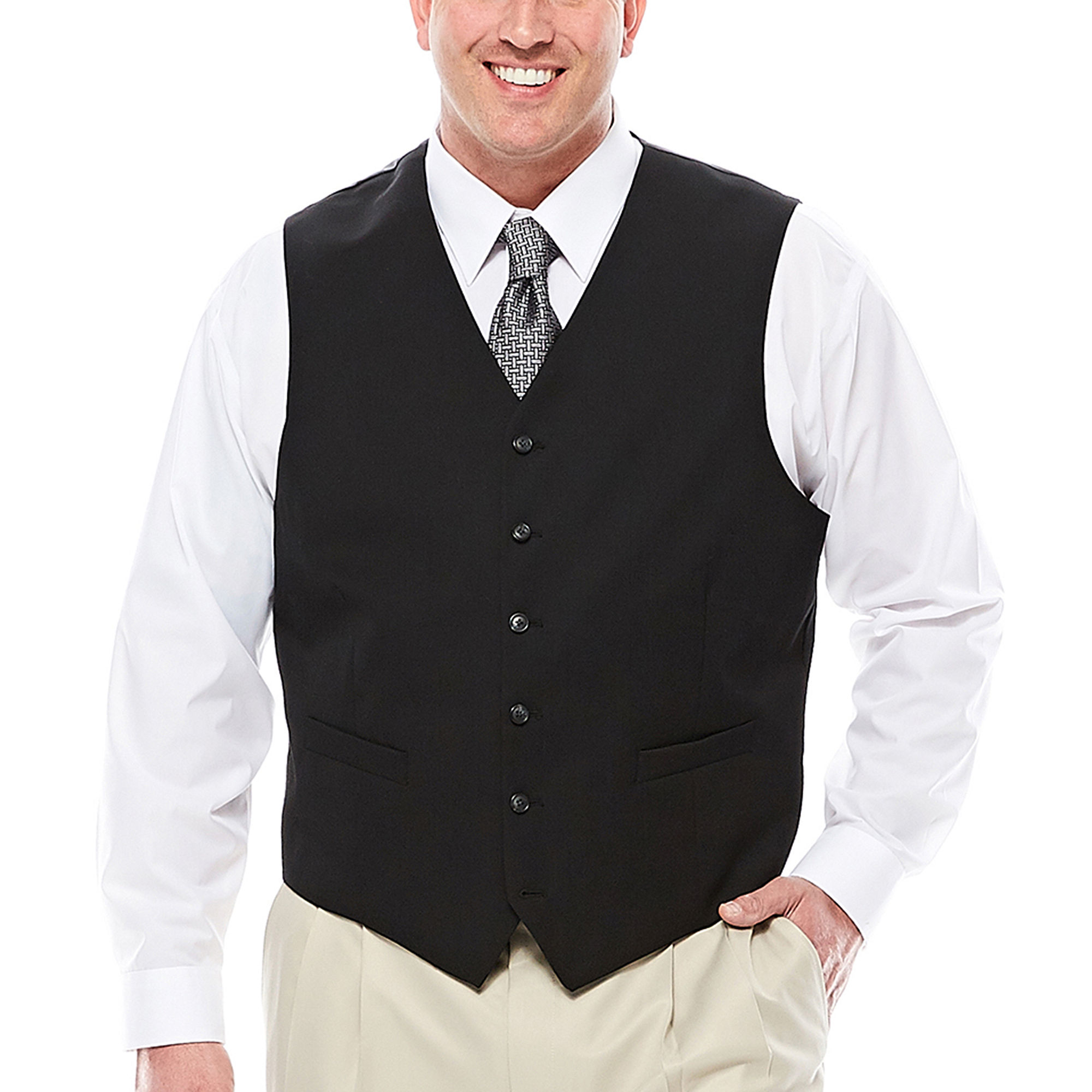 Stafford Travel Suit Vest - Big & Tall