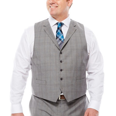 jcpenney.com | Collection by Michael Strahan Plaid Suit Vest  - Big & Tall