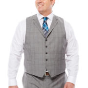 Collection by Michael Strahan Plaid Suit Vest  - Big & Tall