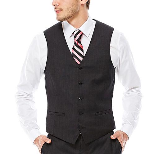 JF J. Ferrar® Nailhead Suit Vest - Slim Fit