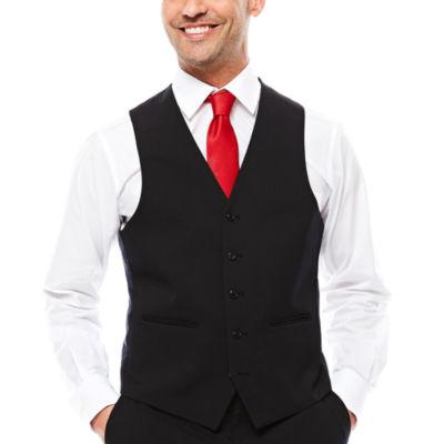 U.S. Polo Assn.® Black Stripe Suit Vest - Classic Fit