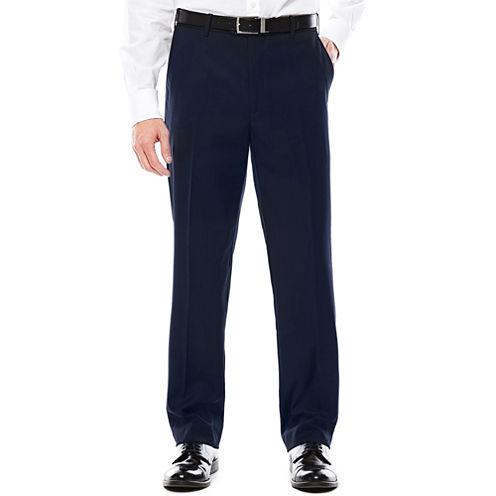 U.S. Polo Assn.® Navy Flat-Front Suit Pants - Classic Fit