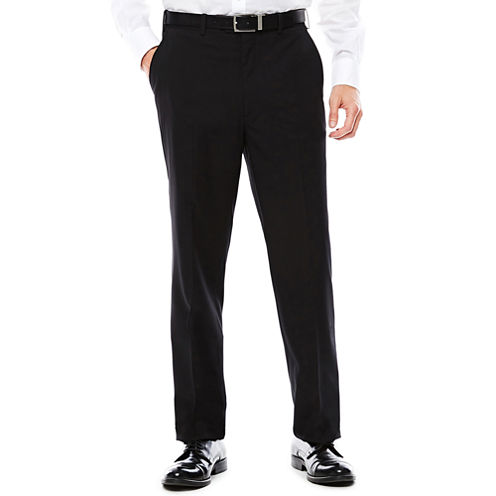 U.S. Polo Assn.® Black Stripe Flat-Front Suit Pants - Classic Fit
