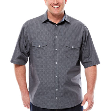 jcpenney.com | D'Amante Short-Sleeve Woven Shirt - Big & Tall