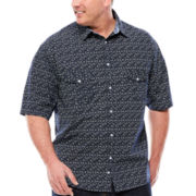 D'Amante Short-Sleeve Paisley Woven Shirt - Big & Tall
