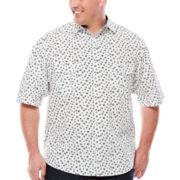 D'Amante Short-Sleeve Star Print Woven Shirt - Big & Tall