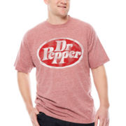 Savvy Dr. Pepper Short-Sleeve Heather Tee - Big & Tall