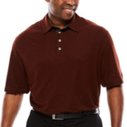 Van Heusen® Short-Sleeve Two-Tone Polo - Big & Tall