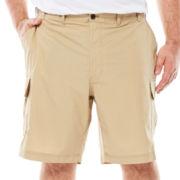 IZOD® Poplin Flat-Front Cargo Shorts - Big & Tall