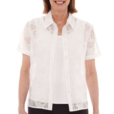 jcpenney.com | Alfred Dunner® Acapulco Short-Sleeve Layered Top - Petite